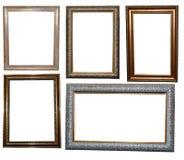 Uppsättning av härliga ramar för målningar fotografering för bildbyråer