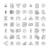 Uppsättning av högvärdiga affärssymboler i linjen stil Arkivfoton