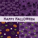 Uppsättning av halloween bakgrunder Arkivfoto
