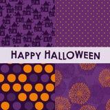Uppsättning av halloween bakgrunder Royaltyfri Fotografi
