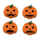 Uppsättning av halloween pumpor 1 Arkivfoton