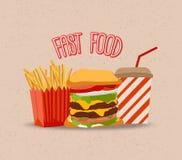 Uppsättning av hamburgaren royaltyfri illustrationer
