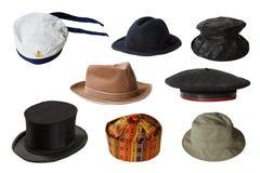 Uppsättning av hattar Royaltyfri Fotografi