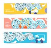 Uppsättning av horisontalbaner, titelrader Redigerbar designmall Royaltyfria Bilder