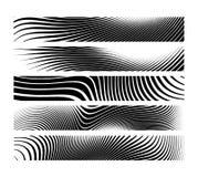 Uppsättning av horisontalbanerbakgrund för abstrakt idérik sebra Royaltyfri Fotografi