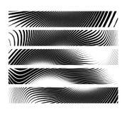 Uppsättning av horisontalbanerbakgrund för abstrakt idérik sebra Arkivfoton