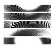 Uppsättning av horisontalbanerbakgrund för abstrakt idérik sebra Arkivbilder