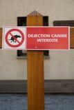 Uppsättning av hunden som tappar tecken Royaltyfri Bild