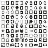 Uppsättning av hundra ramar härlig vektor Royaltyfria Bilder