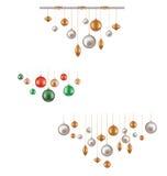 Uppsättning av hunging bollgarnering vektor illustrationer