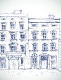 Uppsättning av hus, illustration royaltyfri illustrationer