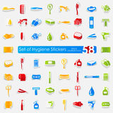 Uppsättning av hygienklistermärkear Royaltyfri Fotografi