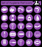 Uppsättning av hygiensymboler Royaltyfria Bilder