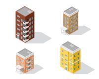 Uppsättning av hyreshusar Fotografering för Bildbyråer