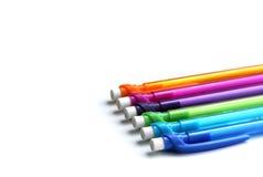 Uppsättning av idérika färgrika blyertspennor Arkivbilder