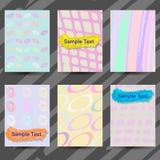 Uppsättning av idérika kort med hand drog texturer Royaltyfri Fotografi