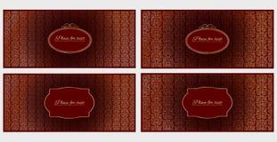 Uppsättning av inbjudan- eller hälsningkort för fyra mall Arkivbilder