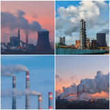 Uppsättning av industriella landskap Arkivfoton