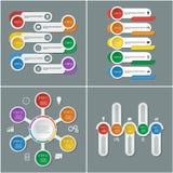 Uppsättning av infographic designmall- och marknadsföringssymboler Fotografering för Bildbyråer