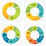 Uppsättning av infographic mallar royaltyfri illustrationer