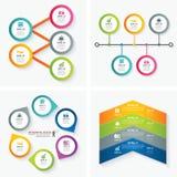 Uppsättning av infographic mallar stock illustrationer