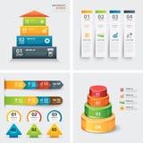 Uppsättning av infographic mallar vektor illustrationer