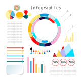Uppsättning av Infographics Fotografering för Bildbyråer