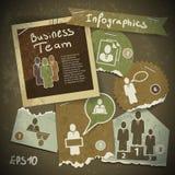 Uppsättning av infographics från sönderrivna stycken av papper i v Arkivfoton