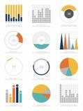 Uppsättning av infographicsbeståndsdelar Royaltyfria Foton