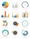 Uppsättning av infographicsbeståndsdelar Royaltyfria Bilder
