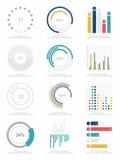Uppsättning av infographicsbeståndsdelar Fotografering för Bildbyråer