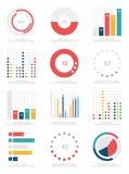 Uppsättning av infographicsbeståndsdelar Arkivfoton