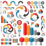 Uppsättning av infographicsbeståndsdelar Arkivbilder