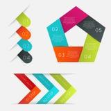 Uppsättning av infographicsbeståndsdelar i modern plan affärsstil Fotografering för Bildbyråer