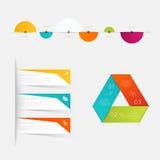Uppsättning av infographicsbeståndsdelar i modern plan affärsstil Royaltyfria Foton
