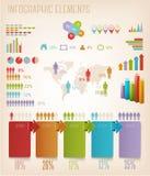Uppsättning av informationsdiagrambeståndsdelar. Royaltyfri Foto