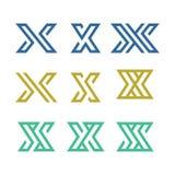 Uppsättning av initial X Logo Vector stock illustrationer