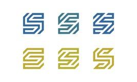 Uppsättning av initial S Logo Vector stock illustrationer