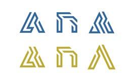 Uppsättning av initialen en Logo Vector vektor illustrationer