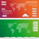 Uppsättning av innovation för världsaffär Fotografering för Bildbyråer