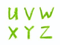 Uppsättning av isolerade bokstäver Royaltyfria Bilder