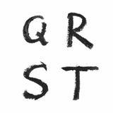 Uppsättning av isolerade bokstäver Arkivfoton
