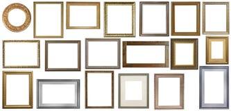 Uppsättning av isolerade tomma ramar för konst royaltyfri fotografi