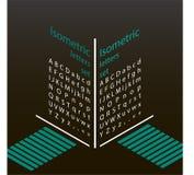 Uppsättning av isometriska bokstäver Royaltyfria Foton