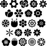 Uppsättning av ized blommor Arkivbild