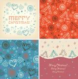 Uppsättning av julbaner vektor illustrationer
