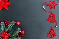 Uppsättning av julsaker royaltyfria bilder