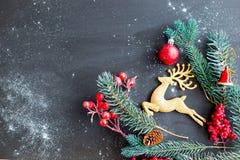 Uppsättning av julsaker fotografering för bildbyråer