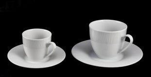 Uppsättning av kaffe och te. Arkivfoton
