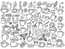 Uppsättning av kaffeklottret Arkivbilder